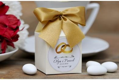 Pudełka wysokie na wesele + migdały