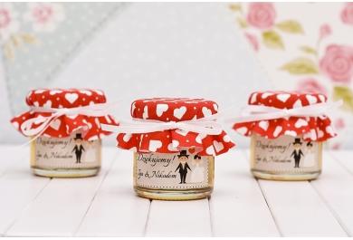 Słoiczki z miodem na wesele