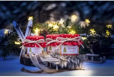 Słoiczki z miodem na Boże Narodzenie