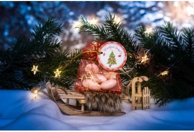 Woreczki z migdałami na Boże Narodzenie