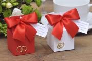 Pudełka wysokie na ślub, wesele
