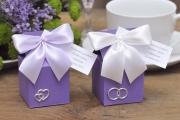 Pudełka wysokie na ślub, wesele + migdały