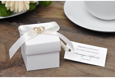Pudełka kwadratowe na ślub, wesele