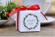 Pudełka kwadratowe na Boże Narodzenie