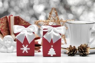 Pudełka wysokie na Boże Narodzenie - podziękowania dla gości, klientów oraz współpracowników