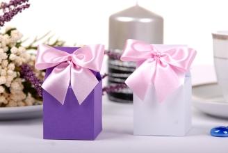 Pudełka wysokie prezenty dla gości weselnych